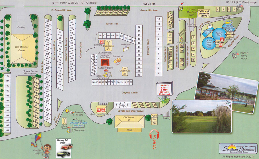 Mitchell Resort illustrated site map