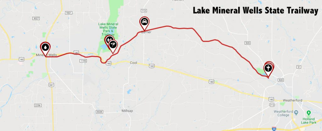 Lake Mineral Wells State Trailway Map