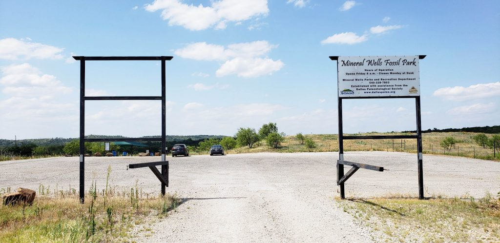 Mineral Wells Fossil Park Parking Lot Entrance