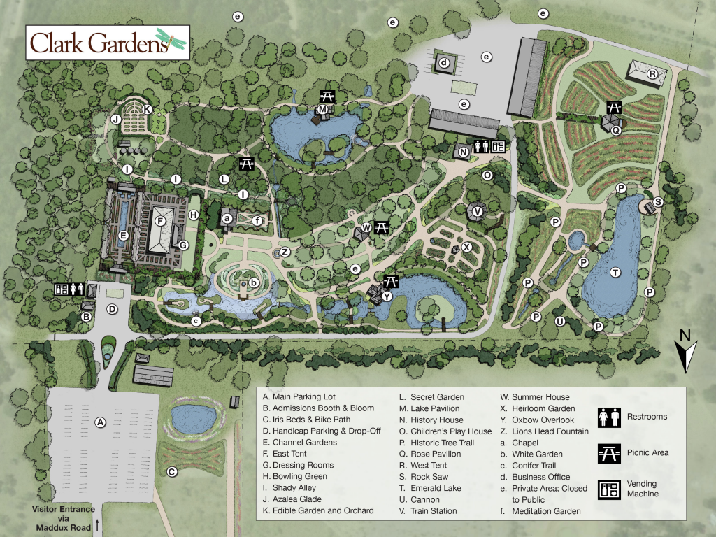 Clark Gardens Map