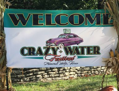 Crazy Water Festival Banner