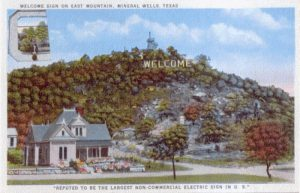 Welcome Sign postcard