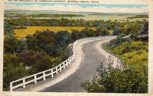 On the Broadway of American Highway postcard