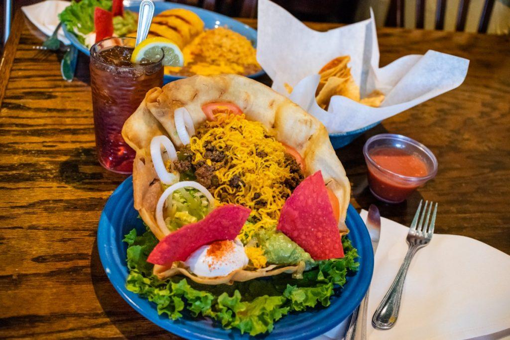 Taco salad from El Paseo