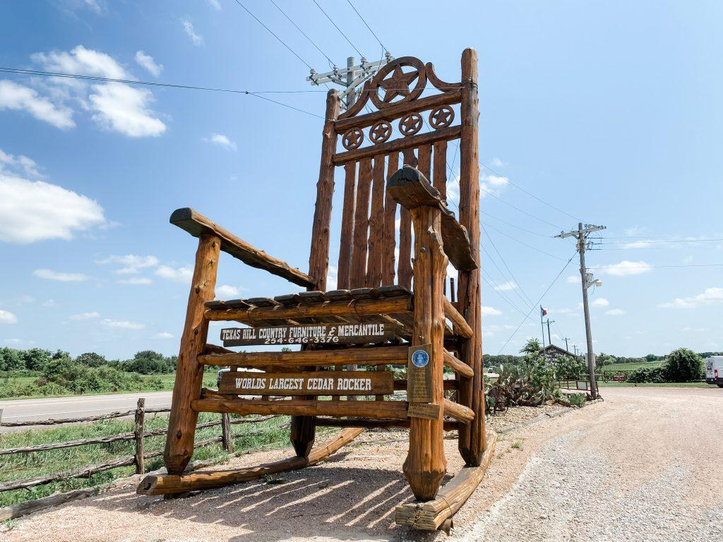 Worlds Largest Cedar Rocking Chair