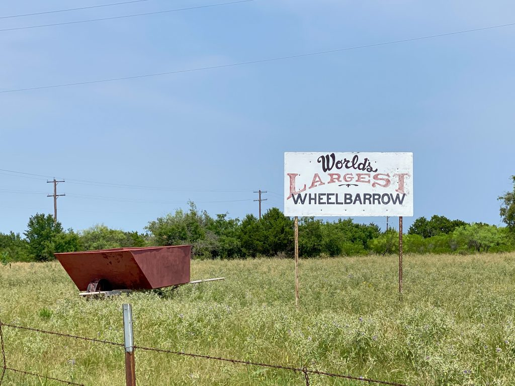 Worlds Largest Wheelbarrow Caddo, Texas